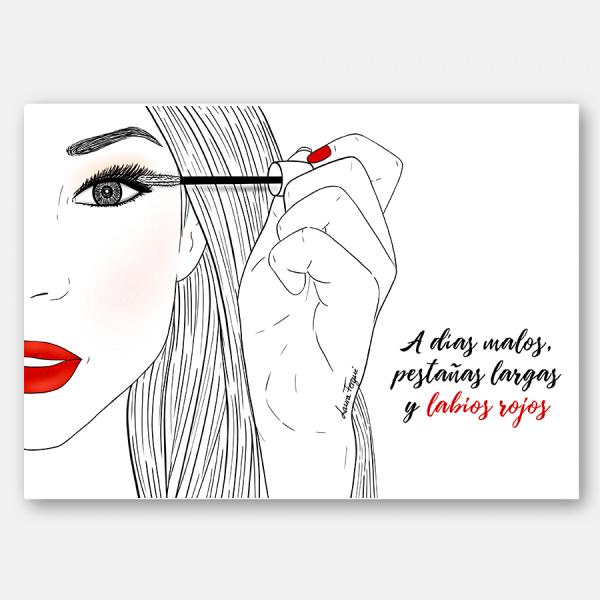 Lámina labios rojos