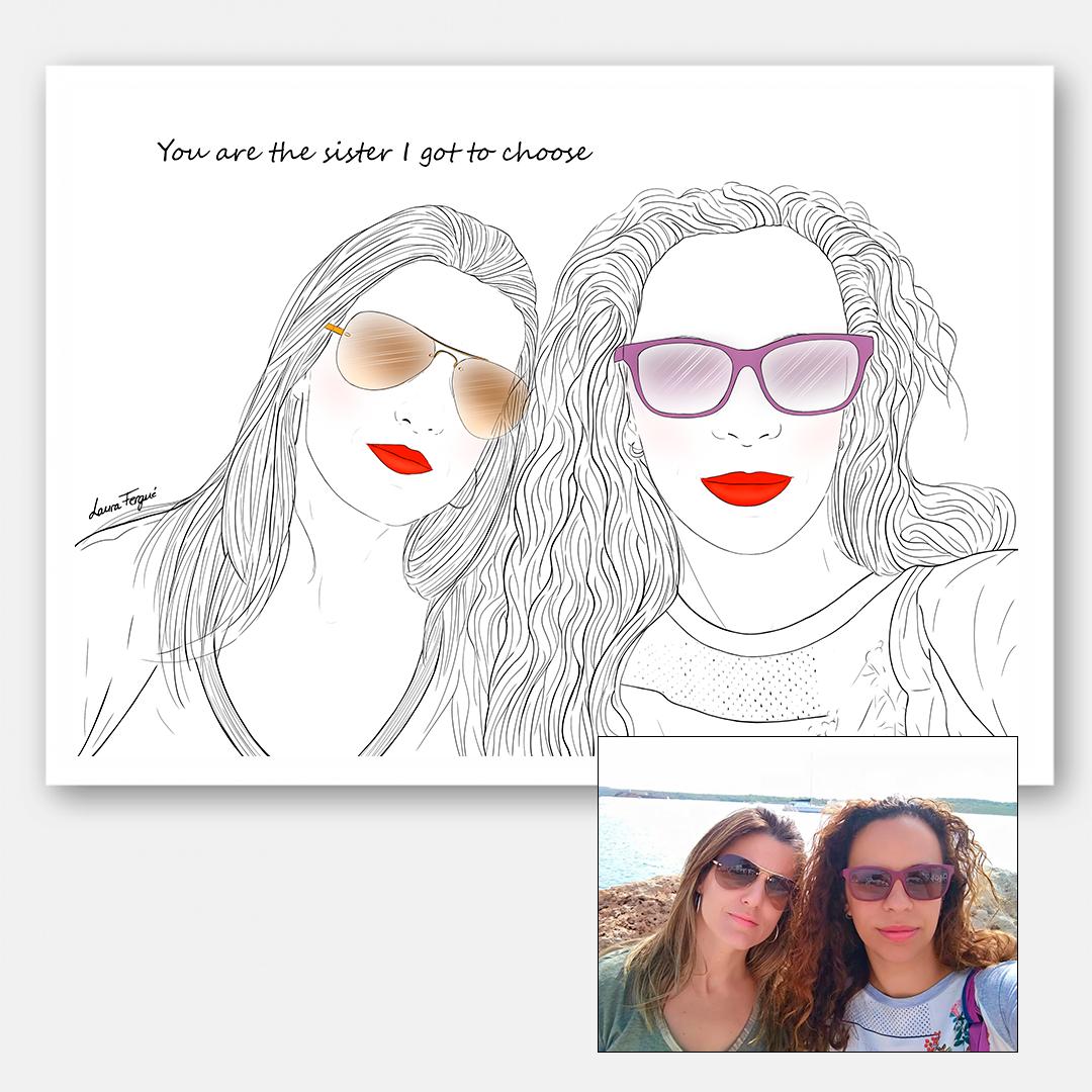 Ilustraciones personalizadas - 2 personas