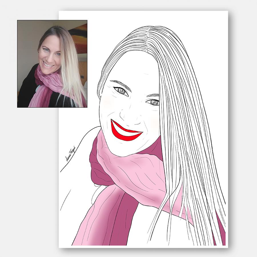 Ilustraciones personalizadas - 1 persona